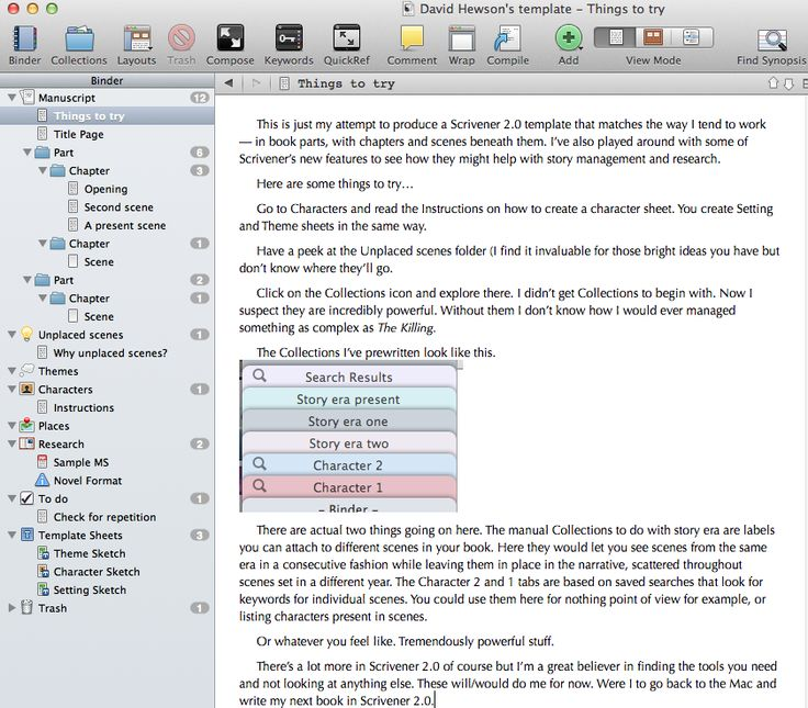 Writing In Scrivener Starts With A Project Where You Organize Your Research