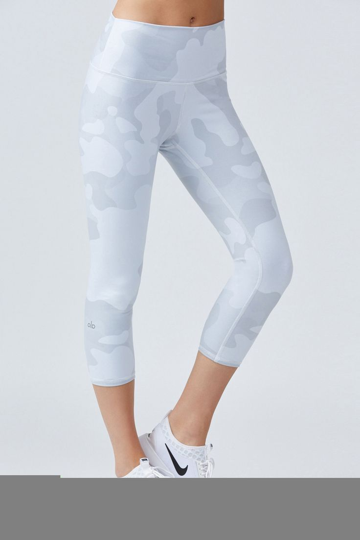 White Camo Yoga Pants