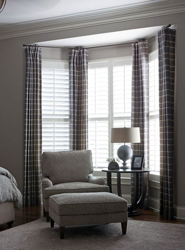 Ideas For Treating A Bay Window - Don't be intimidated. Blinds Galore offers options, ideas and photos for inspiration for window treatments on bay windows.