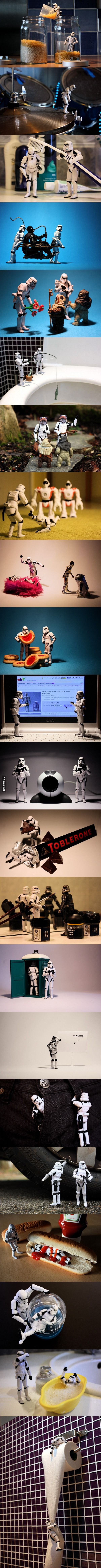 A day in the life of stormtrooper. ...its sad BC I'd do this in my spare time if I had these in my possession...