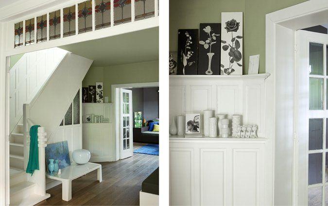 Mooi voor in de keuken wit geschilderd houtwerk