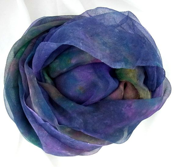 Unhemmed Hand dyed Silk Wrap Wrap Hand dyed by SallyAnnesSilks
