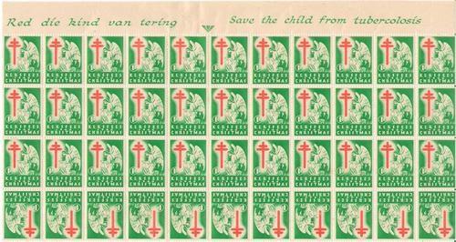 CHRISTMAS STAMPS 1946 PART SHEET UMM