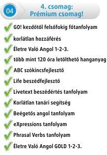 Online angol nyelvtanulás - Online Angol nyelvoktatás Goangol.hu - Válaszd ki az egyik csomagot