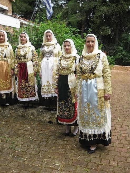 TRADITIONAL COSTUMES-AVLONAS ATTICA. outdoor of Zygomalas Museum.. all rights reserved