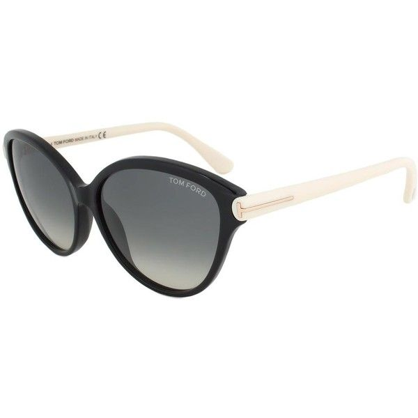 Tom Ford FT0342 05B Priscila Sunglasses (425 BRL) ❤ liked on Polyvore featuring accessories, eyewear, sunglasses, black, tom ford, tom ford sunnies, tom ford sunglasses, tom ford glasses, cat eye glasses and cat-eye glasses