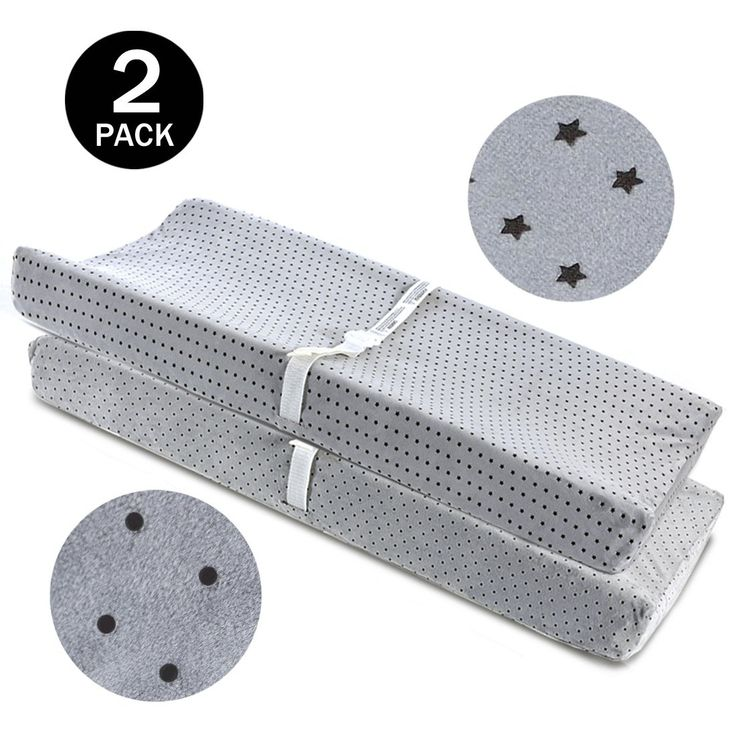 Changing Pad Cover Grey-BROLEX 2 Pack Baby Diaper Change Pad Covers-Stars & Polka Dots Style,Changing Table Pad Covers