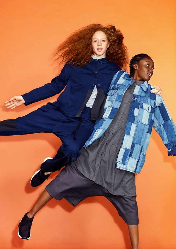 """Created for Monki's 10 year B-day collection using a traditional Japanese patchwork style called boro, this denim jacket expresses some of Monki's key ideals: the joy of the asymmetrical, the perfection of the """"imperfect"""" and the celebration of clothing you can really live your life in."""