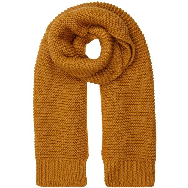 Brown Ribbed Knitted Scarf (295 EGP) ❤ liked on Polyvore featuring accessories, scarves, brown shawl and brown scarves