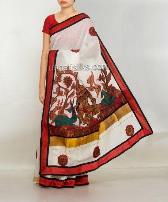 latest designer cotton sarees online, fancy handloom saris, Unnati Silks