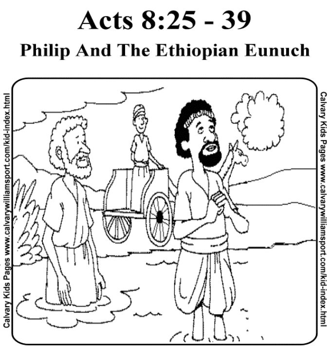 free coloring pages philip and the ethiopian - philip and the ethiopian free colouring pages