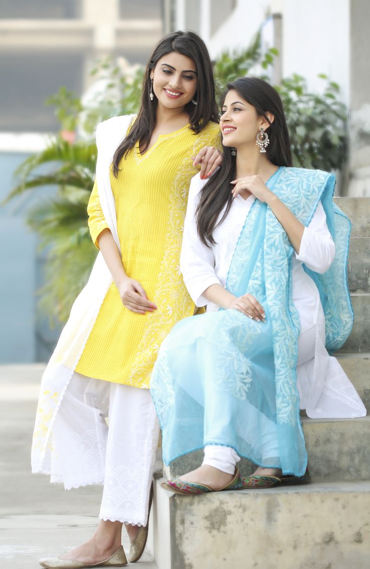 the all new bright and breezy range of #chikankari, available at #fabindia