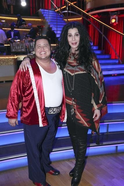 Still of Cher and Chaz Bono in Dancing with the Stars (2005)