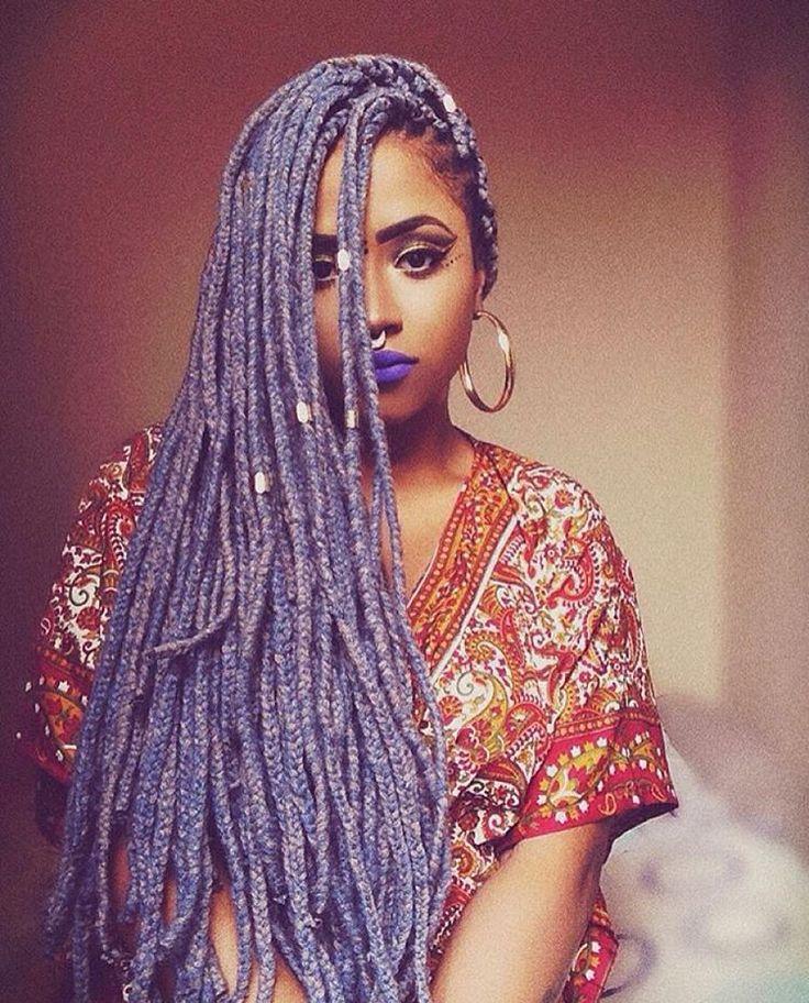 Long colored braids