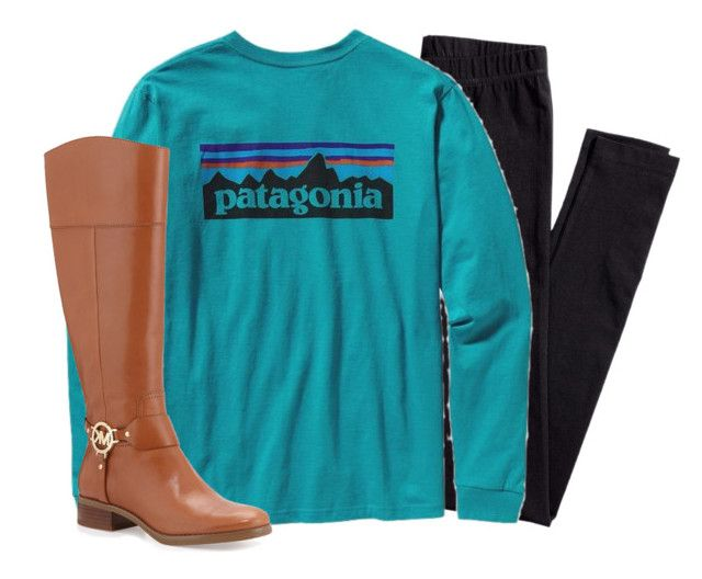 """""""idk what to wear tomorrow"""" by aletphobia ❤ liked on Polyvore featuring H&M, Patagonia and MICHAEL Michael Kors"""