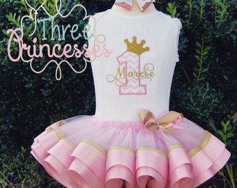 Big Sister Ribbon Tutu Outfit Gender Reveal by ThreePrincessBows