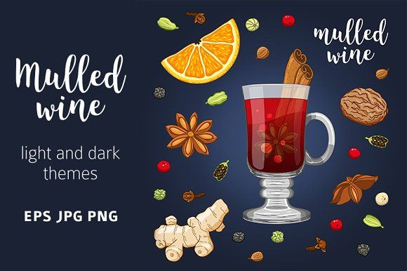 Mulled wine set by primula on @creativemarket
