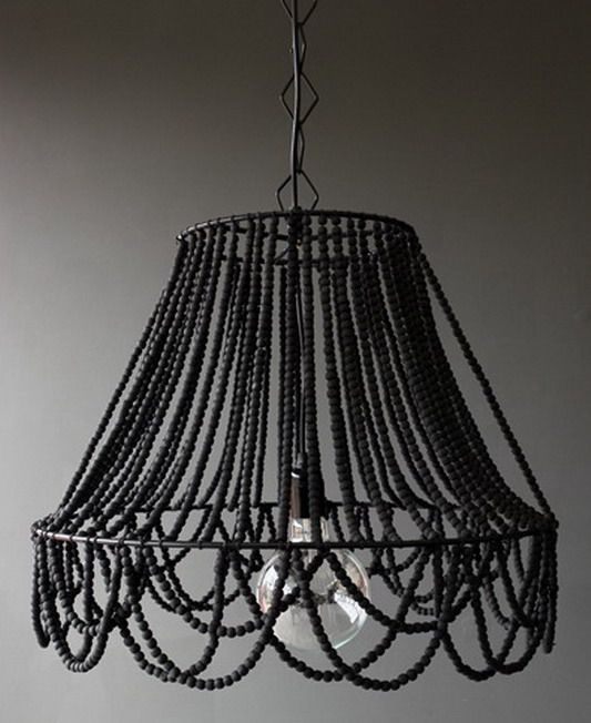 Beaded Ceiling Light  Would Be So Easy To Make!
