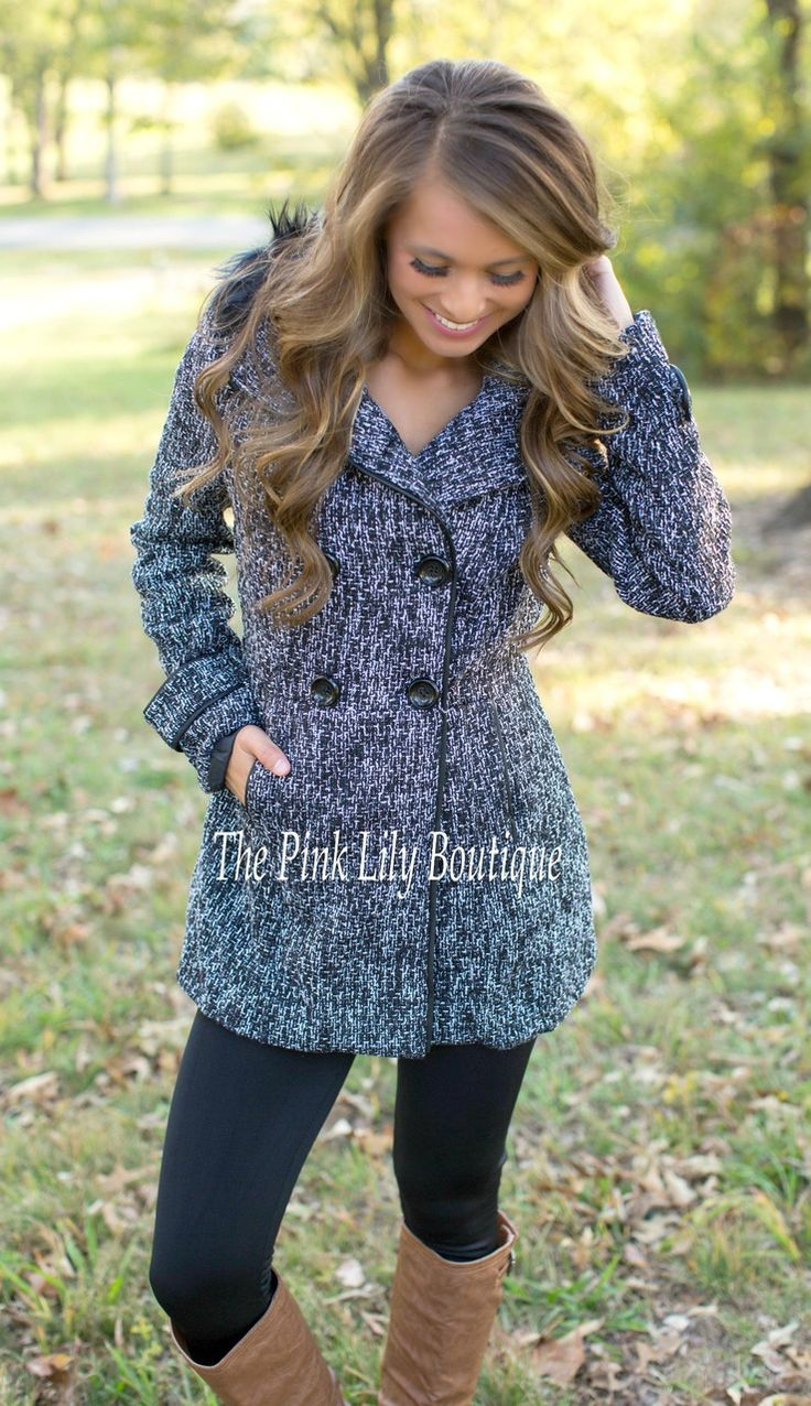 Living The Good Life Black Coat - The Pink Lily Boutique