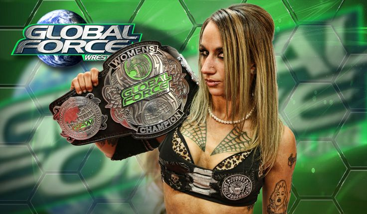 Christina Von Eerie Global Force Wrestling Women's Champion Christina Von Eerie is counter-culture, against-the-grain and in your face… and damn proud of it! Christina thrives on marching to the beat
