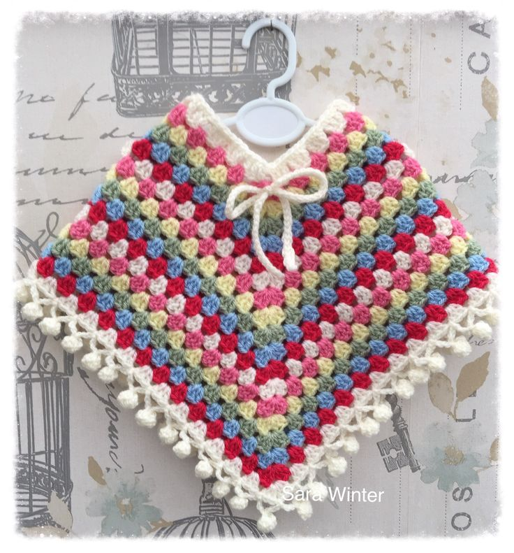 A personal favourite from my Etsy shop https://www.etsy.com/uk/listing/514376352/vintage-style-baby-poncho-with-pom-pom
