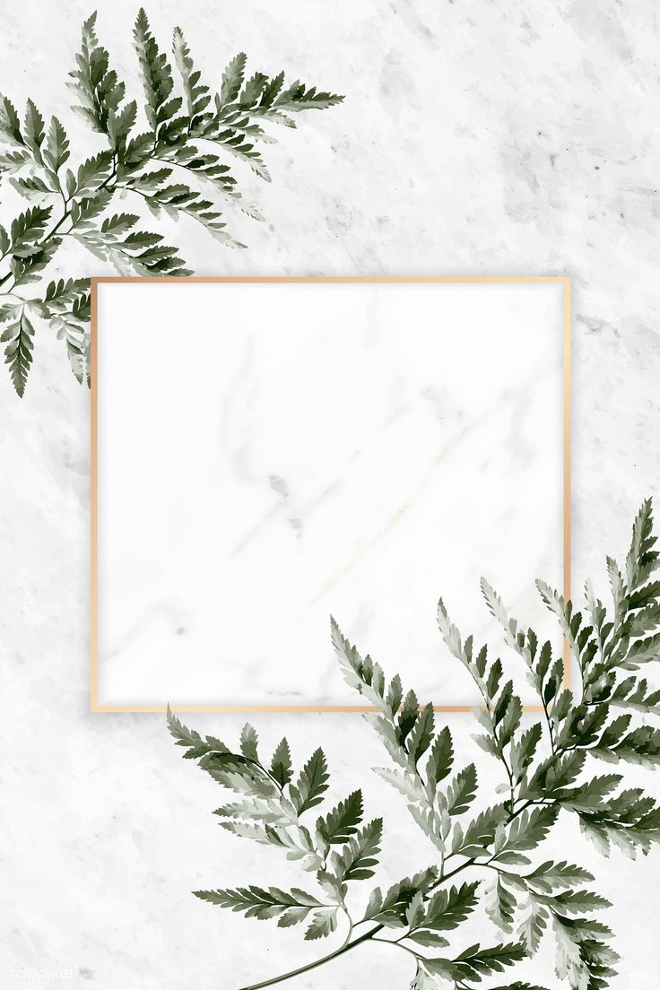 Download premium vector of Square golden frame on a marble background
