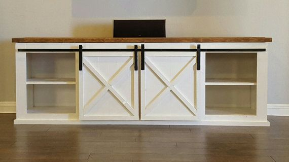 Buffet Entertainment Center Tv Stand With Sliding Barn