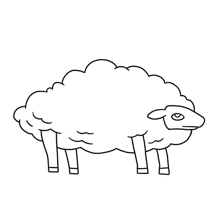 Картинка овцы карандашом для детей