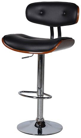Black and wood bar stool eames style