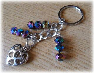 Silvia Jewellery of Style: Portachiavi perline multicolore e cuore