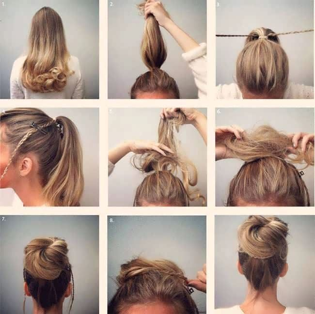 How To Make A Hairstyle With Your Own Hands At Home Hairstyles Hair Styles Easy And Beautiful Hairstyles Hairstyle