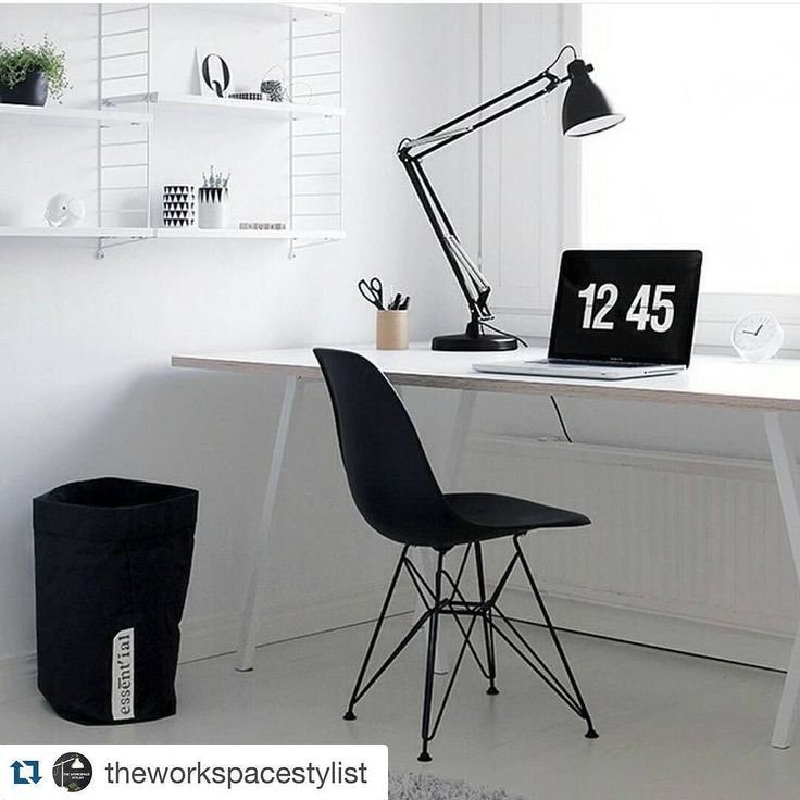 #Repost @theworkspacestylist with @repostapp. Workspace Inspo and Image Regram thanks to @designwash Finishing up Monochrome Monday with this beautiful minimalistic and monochrome workspace belonging to @designwash based in Finland. Please check out the feed of @designwash for more amazing interiors! Thanks @designwash we love your workspace style!