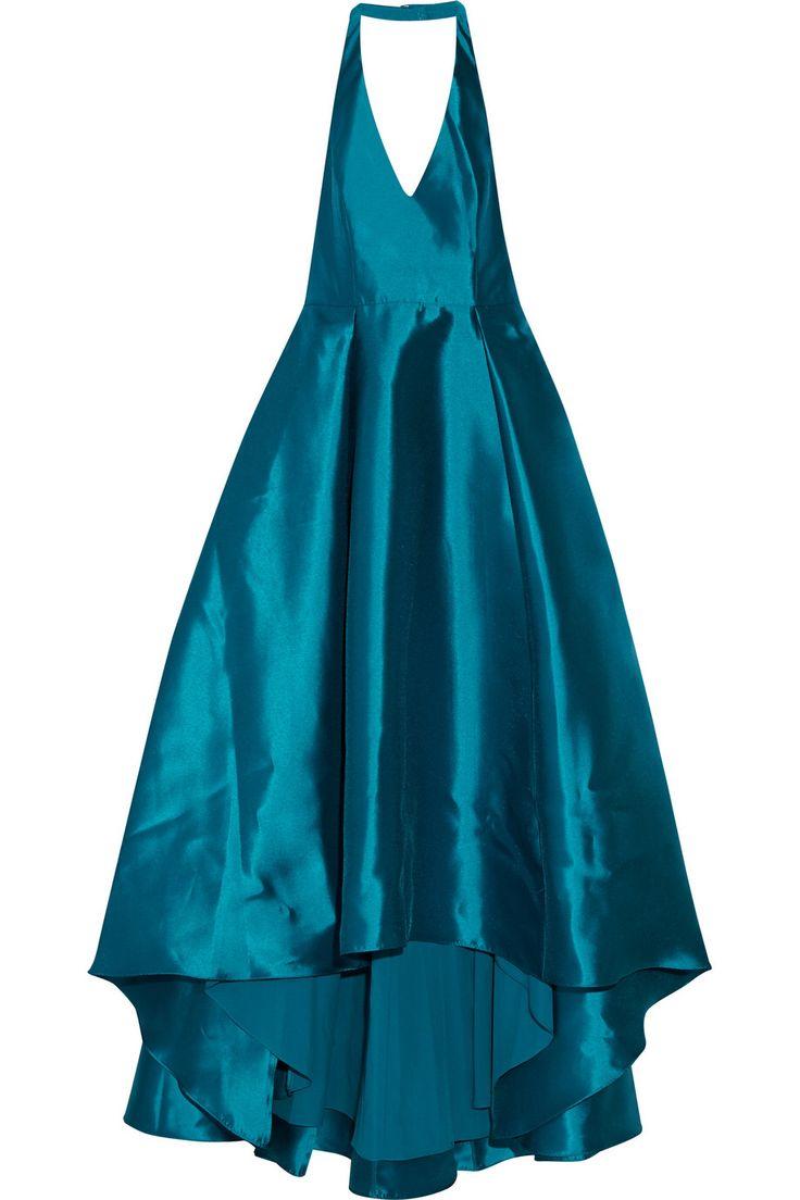 BADGLEY MISCHKA Mikado pleated satin halterneck gown €462.93 http://www.theoutnet.com/products/646471