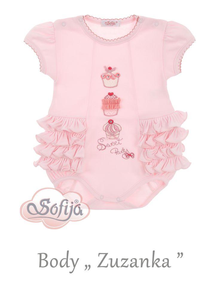 Bawełniane body dla dziewczynki Zuzanka   www.sofija.com.pl  #sofija #ubrania #dziecko #moda #body #lato #bawełna #kids #baby #fashion #girl #sweet #luxurygoods #luxury #summer #ребенок #лето #мода #kinder #kindermode