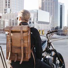 Крутой кожаный мужской рюкзак для путешествий #РЮКЗАК #КОЖА #ПУТЕШЕСТВИЯ