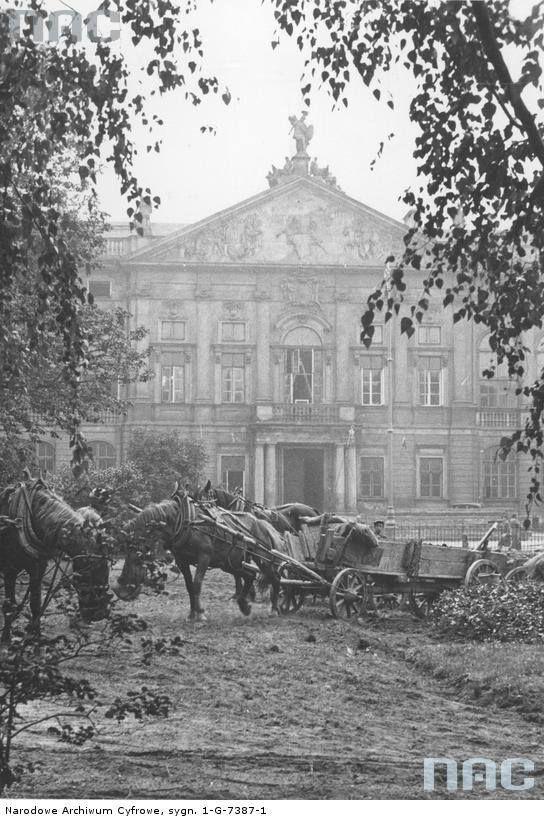 Prace budowlane na placu Krasińskich, 1938.