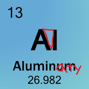 ELEMENT NUMBER 13, ALUMINUM? YOU BET YOUR REAR END THAT'S ALUMINATY: | 29 Reminders That The Illuminati Is Ready To Take Over Any Second