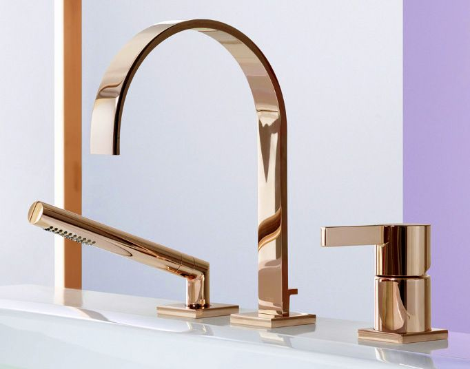 faucets ti style gold wall bathroom mount brass washing finish faucet machine pvd antique