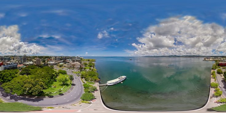 https://flic.kr/p/PJS2Us | Aerial 360 of the Suva Waterfront & Tiko's Floating Restaurant - higher resolution version with embedded video in description | roundme.com/tour/105890/view/266672/