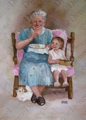 Grandma & Child.......we will never have this endless yet simple joy of sitting and crafting side by side my sweet darling Vylette ......