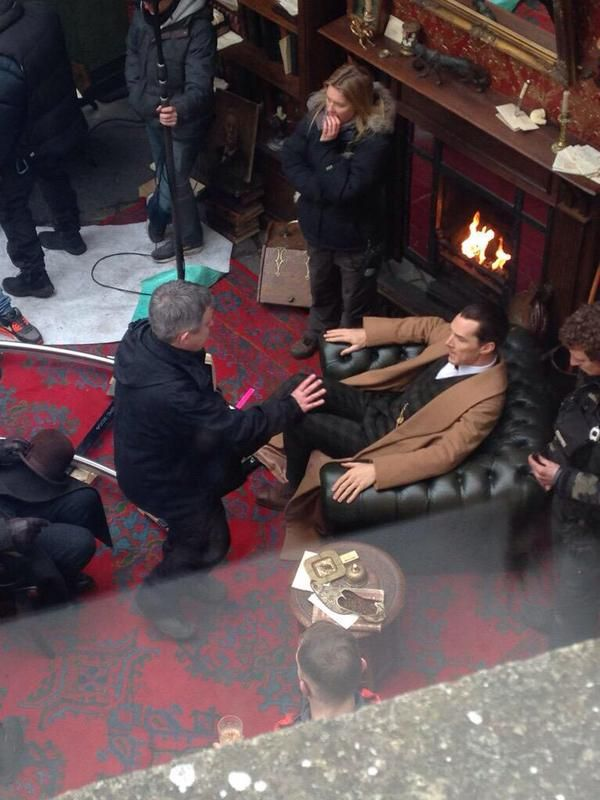 SHERLOCK (BBC) ~ Benedict Cumberbatch (Sherlock) in Bath, England on the set on February 2, 2015 while filming the pre-Season 4 SHERLOCK: THE SPECIAL