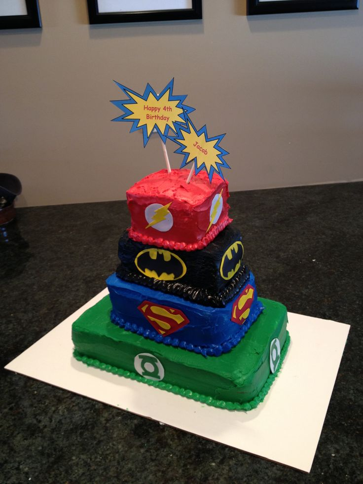 25 Best Ideas About Justice League Cake On Pinterest