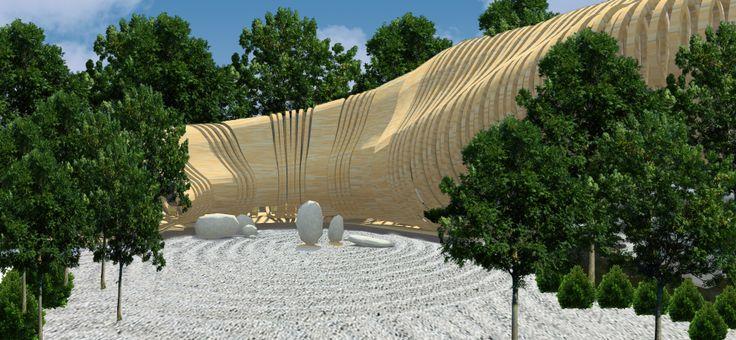 Zen Garden - Tea house- Buddah project