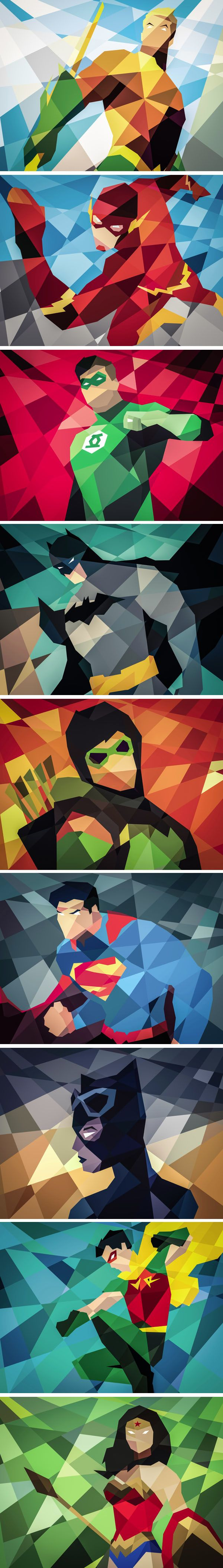 DC Comics goes Geometric, series by Eric Dufresne on Behance