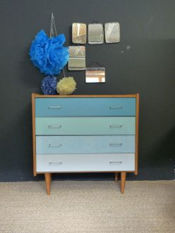 Commode-vintage-relookee-bleu-vert-turquoise-gris-1