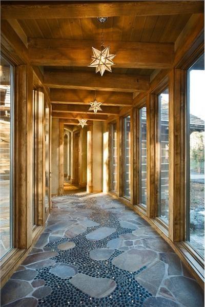 Open Transitional Foyer by Lynette Zambon & Carol Merica