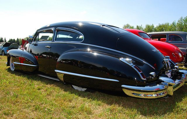 Lowered 1947 Cadillac Sedanette - gorgeous car!