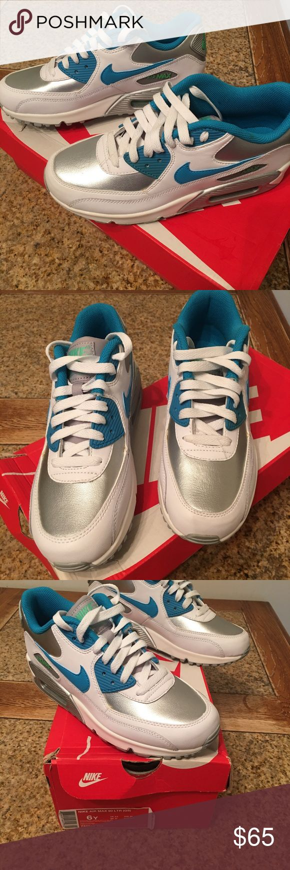 Nike Air max Nike Air max. Size 6 youth. Brand need worn only once. Still have the box. I think they would be an 8in women's Nike Shoes Sneakers
