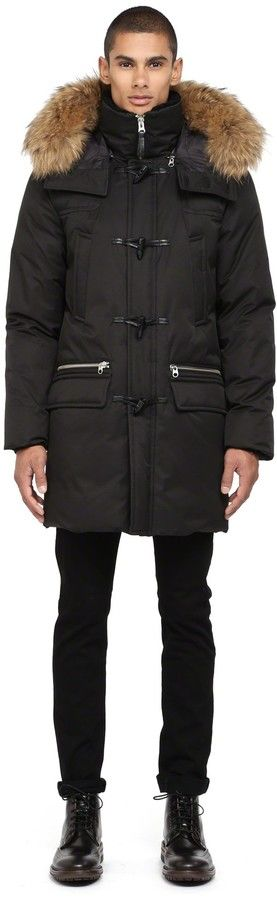 $950, Etienne F4 Black Winter Down Parka With Fur Hood by Mackage. Sold by Mackage. Click for more info: http://lookastic.com/men/shop_items/176826/redirect