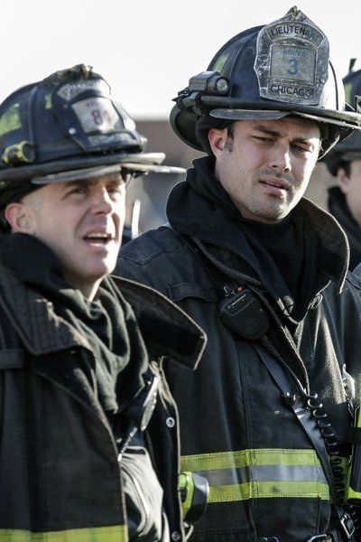 TAYLOR KINNEY AND DAVID EIGENBERG IN CHICAGO FIRE